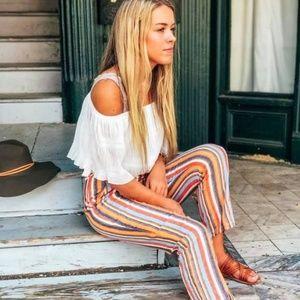 Pants - Stripe Linen Pants